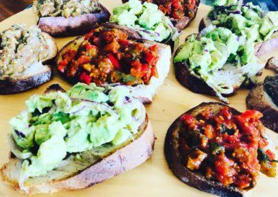 Tartines gourmandes Avocat _ Poivron _ Aubergine