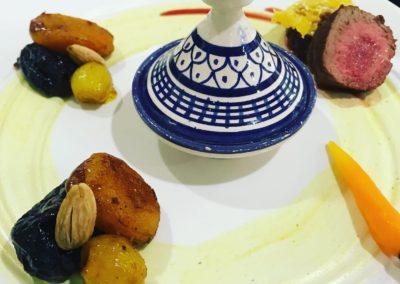 Fusion food Tajine aux pruneau à la française