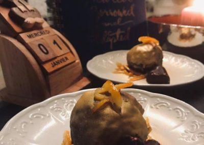 Fererro de clémentines roties en chocolat